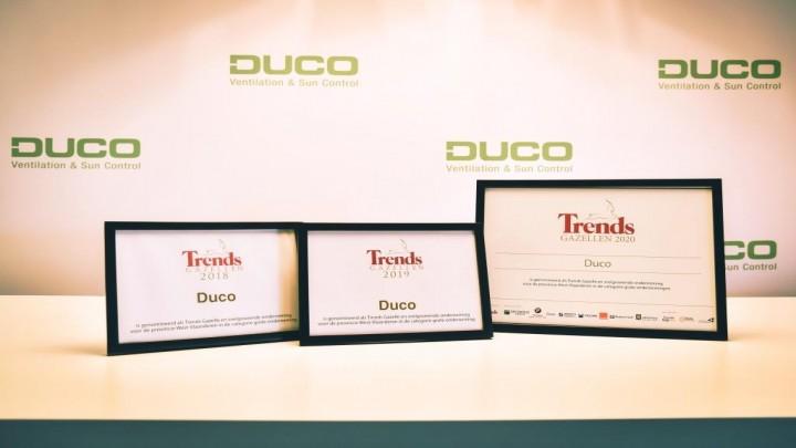 Duco drie jaar op rij genomineerd voor Trends Gazellen