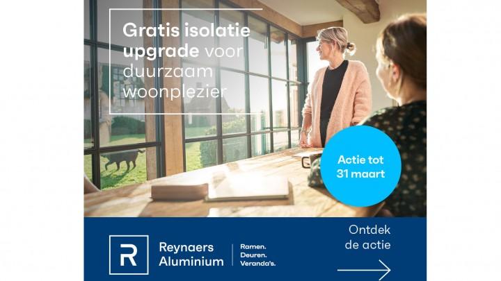 Gratis isolatie upgrade op ramen en veranda's van Reynaers Aluminium