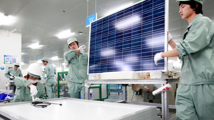 China verviervoudigd doel zonne-energie tegen 2015