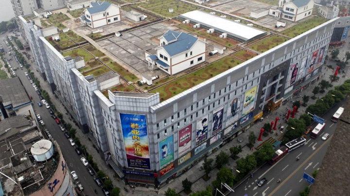 Creatief met ruimte: villa's op shopping mall in China