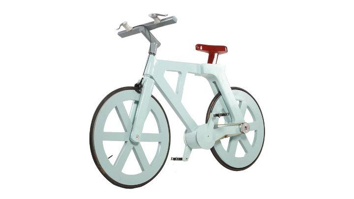 100% recycleerbare fiets gemaakt uit ... karton