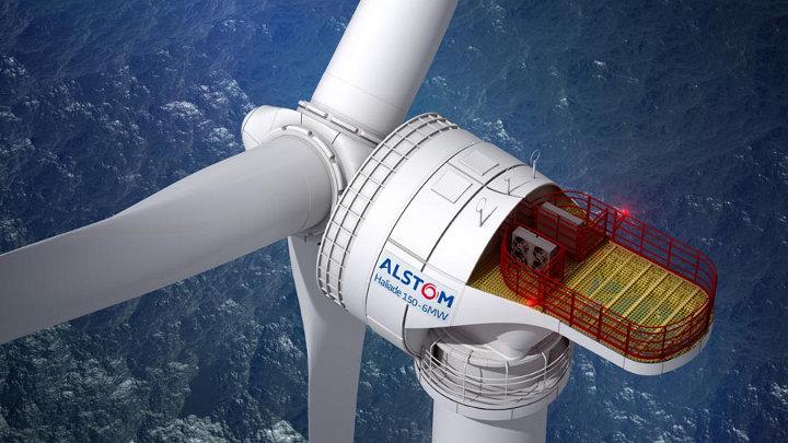 Installatie grootste offshore windmolen ter wereld