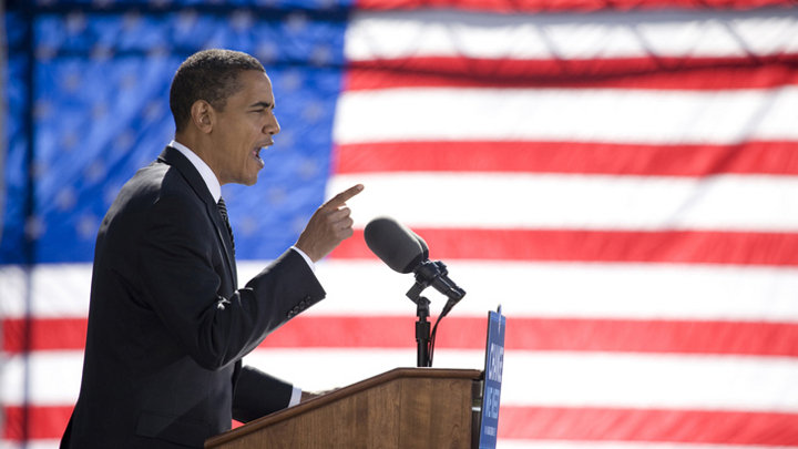 Obama praat over klimaatverandering in overwinningsspeech