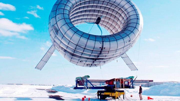 Windmolen in een ballon