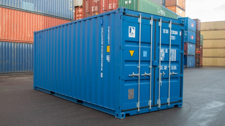 Zeecontainer als werk/woonruimte
