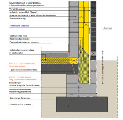 detail vloer en dak